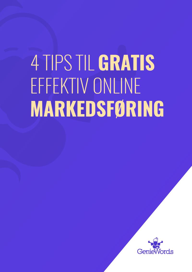 Guide: 4 tips til gratis effektiv online markedsføring